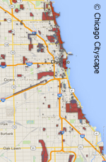 map of chicago's landmarks and historic districts