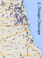 map of solar projects in Chicago